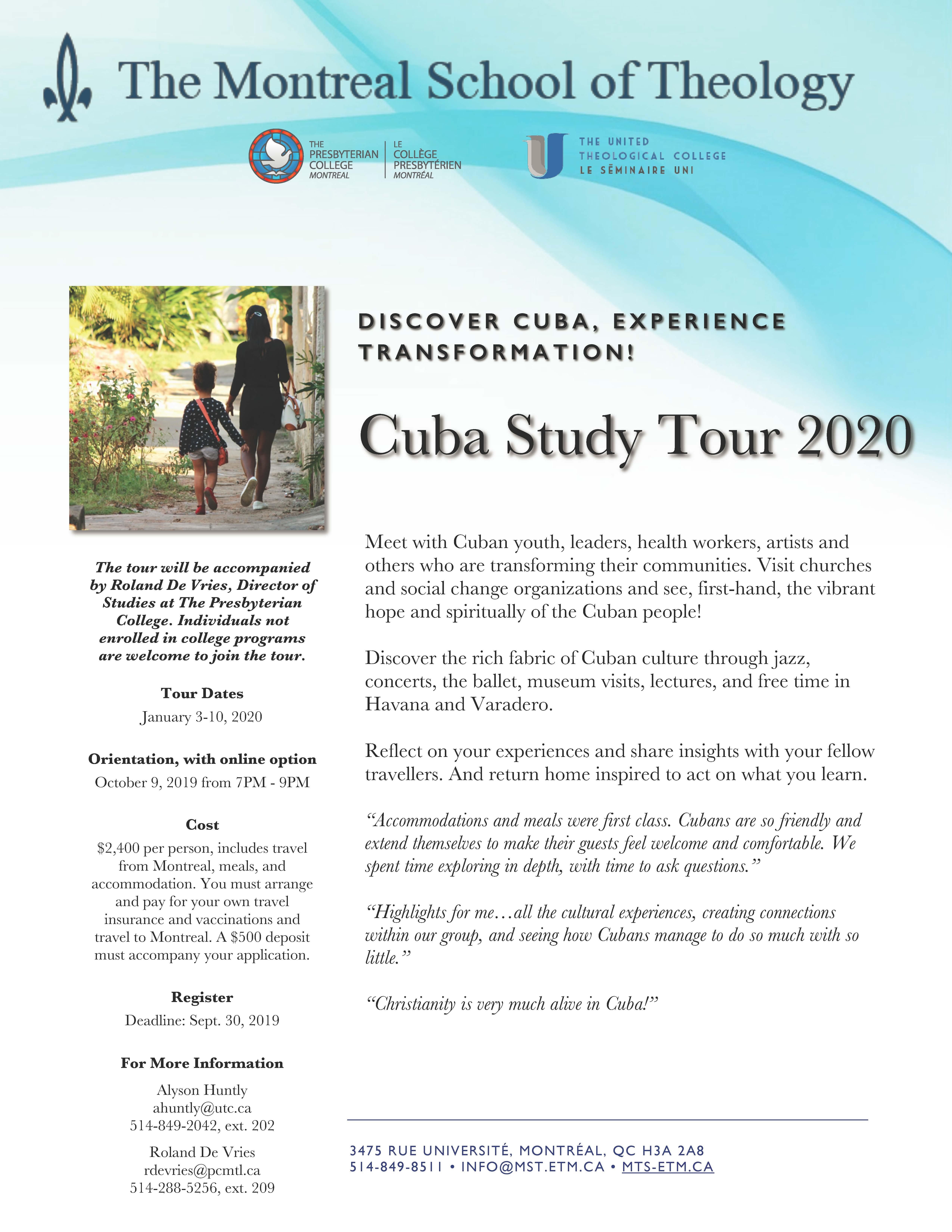 Cuba Study Tour 2020