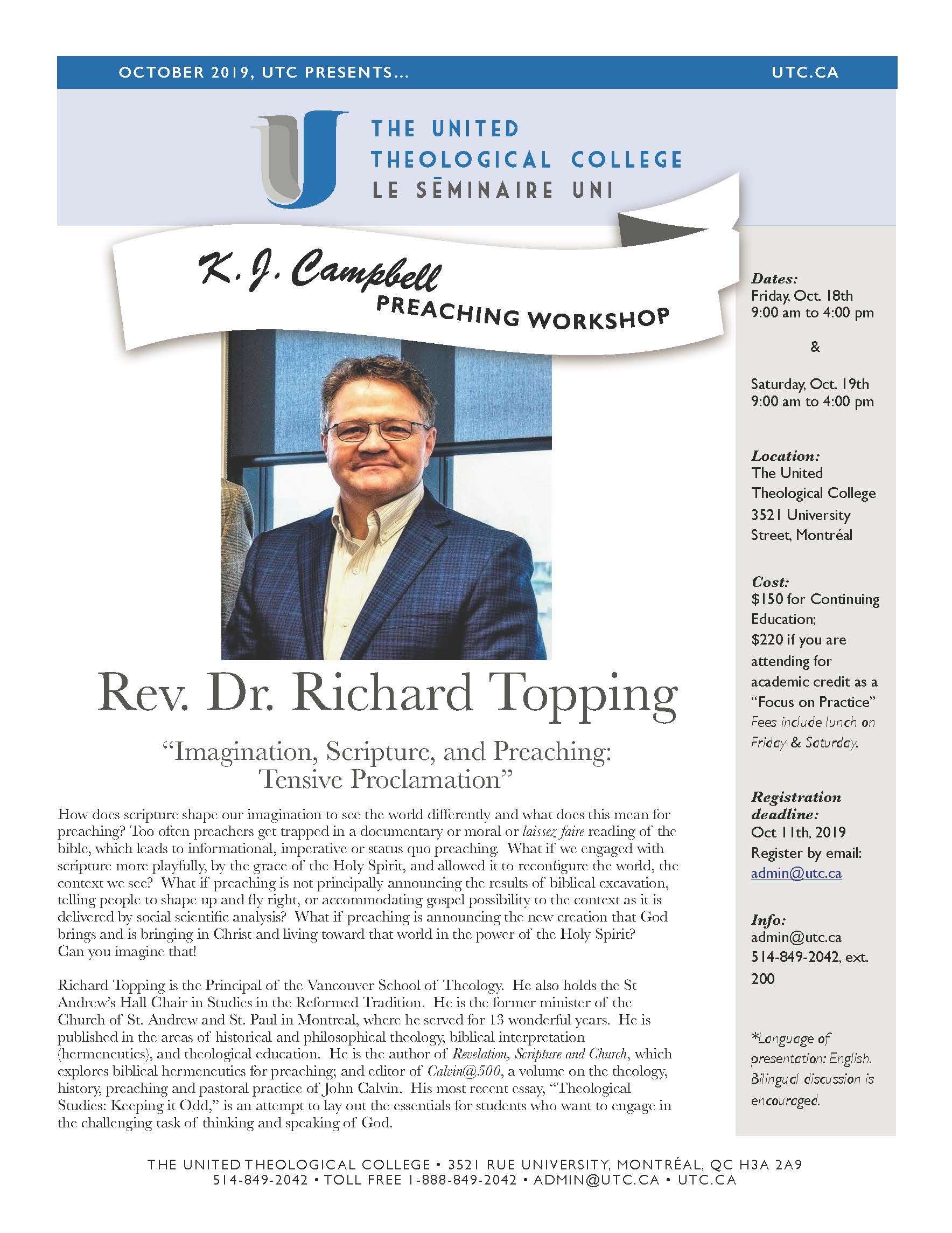 Oct 2019: K.J. Campbell Preaching Workshop