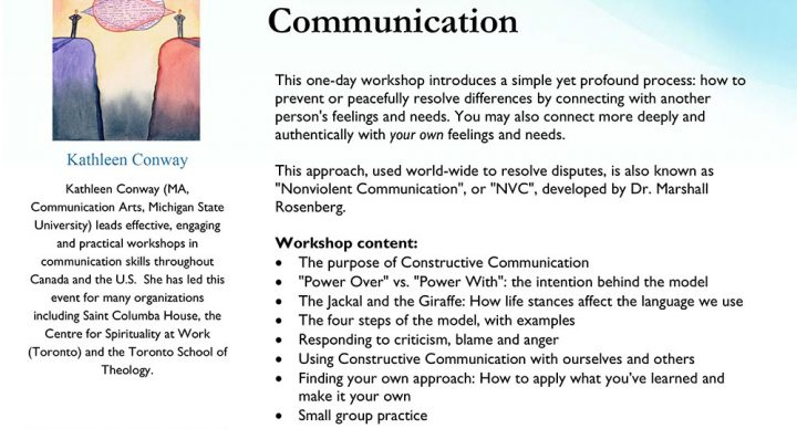 Winter 2020: An Introduction to Constructive Communication