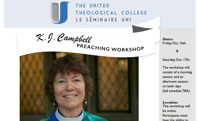 Fall/Winter 2020: K. J.  Campbell's Preaching Workshop