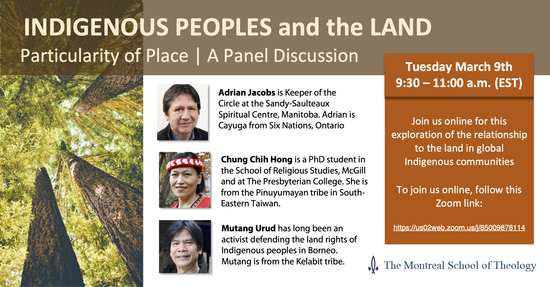 Panel Discussion: Indigenous Peoples and the Land